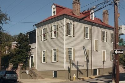The John Blake House and Marker at S. Battery and Legare Street image. Click for full size.