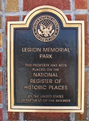 Legion Memorial Park NRHP Marker image. Click for full size.