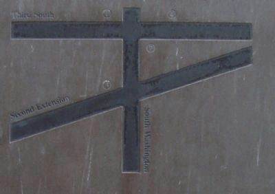 The White Chapel District Marker - Detail image. Click for full size.