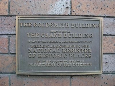 The Goldsmith Building Marker image. Click for full size.