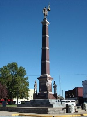 Full View - - Gibson County Civil War Memorial Marker image. Click for full size.