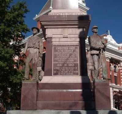 Front Panel - - Gibson County Civil War Memorial Marker image. Click for full size.