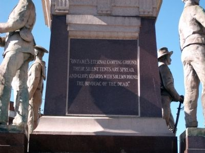 Right Panel - - Gibson County Civil War Memorial Marker image. Click for full size.