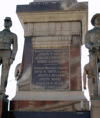 Back Panel - - Gibson County Civil War Memorial Marker image. Click for full size.