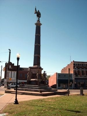 Looking East - - Gibson County Civil War Memorial Marker image. Click for full size.