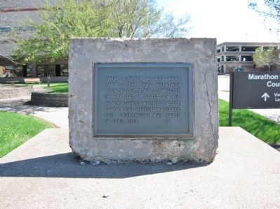 Third Marathon County Courthouse Marker image. Click for full size.