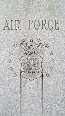 Johnson County Veterans Memorial USAF image. Click for full size.