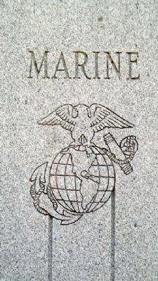 Johnson County Veterans Memorial USMC image. Click for full size.