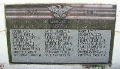 Johnson County World War II Memorial Marker image. Click for full size.