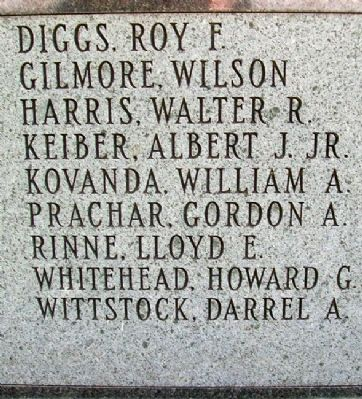 Johnson County World War II Memorial Honor Roll image. Click for full size.
