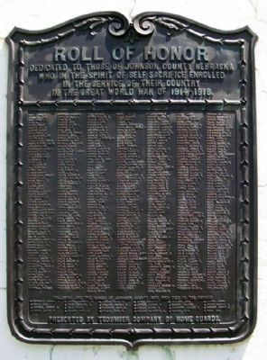 Johnson County World War Roll of Honor image. Click for full size.
