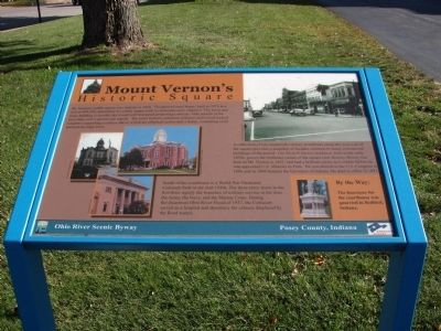 Mount Vernon's Historic Square Marker image. Click for full size.