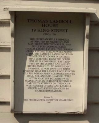 Thomas Lamboll House 19 King Street Marker image. Click for full size.