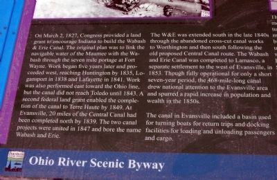 Left Text - - The Short Lived Canal Marker image. Click for full size.