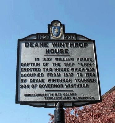 Deane Winthrop House Marker image. Click for full size.