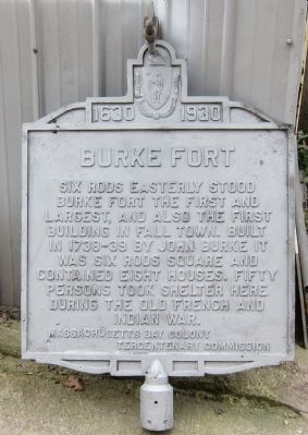 Burke Fort Marker Photo, Click for full size