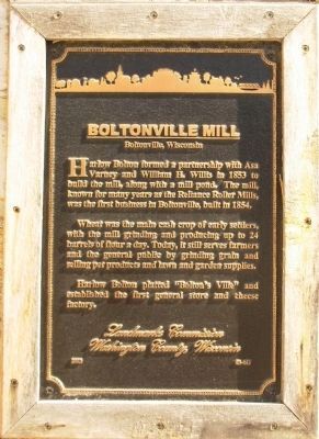 Boltonville Mill Marker image. Click for full size.