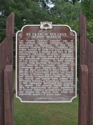 St. Francis Solanus Indian Mission Marker image. Click for full size.