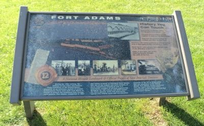 Fort Adams Marker image. Click for full size.