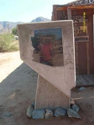 Arizona and Utah / Western Arizona Railway Marker Photo, Click for full size