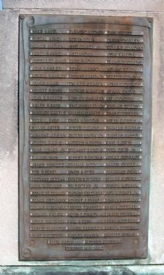 Panel One - - Vanderburgh County World War II Honor Roll Marker image. Click for full size.