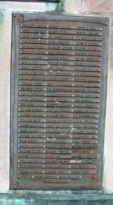 Panel Three - - Vanderburgh County World War II Honor Roll Marker image. Click for full size.