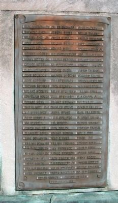 Panel Four - - Vanderburgh County World War II Honor Roll Marker image. Click for full size.