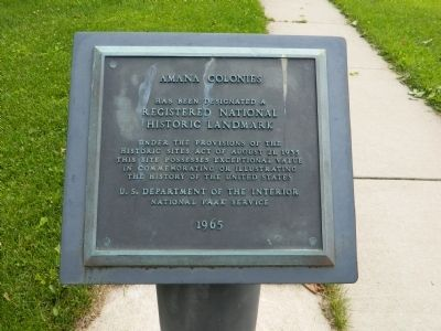Amana Colonies Marker image. Click for full size.