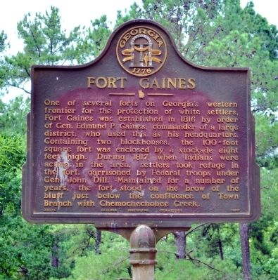 Fort Gaines Marker Photo, Click for full size