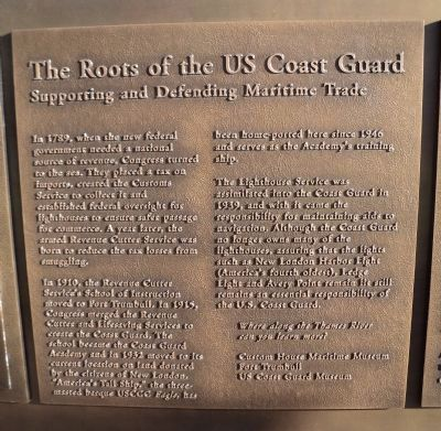 The Roots of the US Coast Guard Marker image. Click for full size.