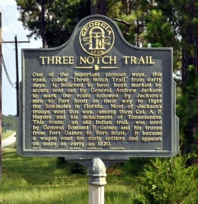 Three Notch Trail Marker image. Click for full size.