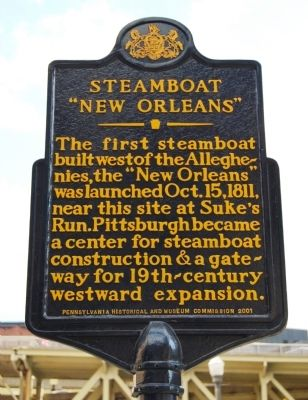 "Steamboat ""New Orleans"" Marker Photo, Click for full size"