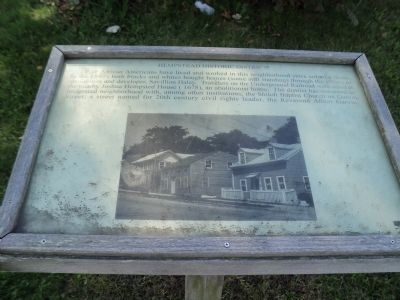 Hempstead Historic District Marker image. Click for full size.