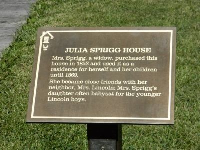 Julia Sprigg House Marker image. Click for full size.