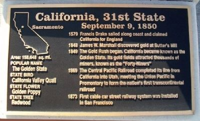 California, 31st State Marker Photo, Click for full size