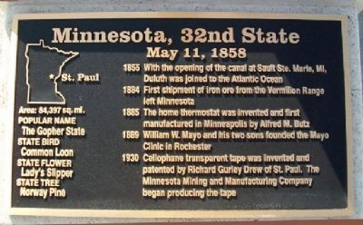 Minnesota, 32nd State Marker Photo, Click for full size