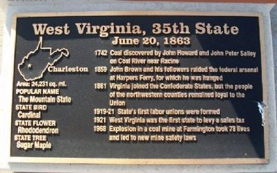 West Virginia, 35th State Marker Photo, Click for full size