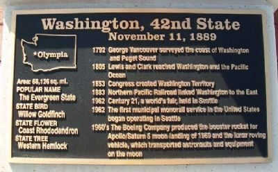 Washington, 42nd State Marker Photo, Click for full size