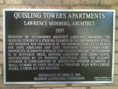 Quisling Towers Apartments Marker image. Click for full size.