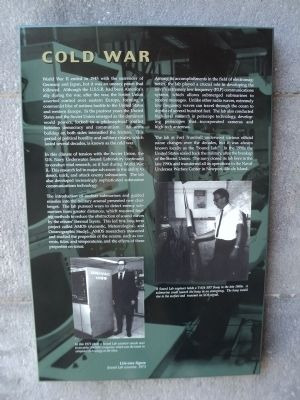 Cold War Marker image. Click for full size.