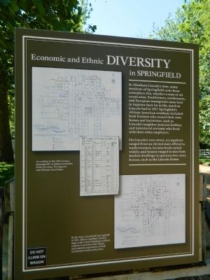Economic and Ethnic Diversity in Springfield Marker image. Click for full size.