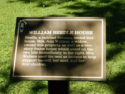 William Beedle House Marker image. Click for full size.