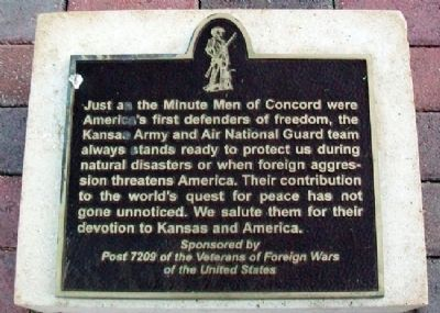 Kansas Army and Air National Guard Marker image. Click for full size.