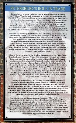 Petersburg's Role In Trade Marker image. Click for full size.