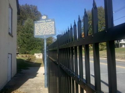 Related Marker inside the fence line South of the gate image. Click for full size.