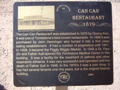 Can Can Restaurant Marker image. Click for full size.
