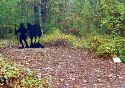 Trader with Pack Horse Marker and Silhoutte image. Click for full size.
