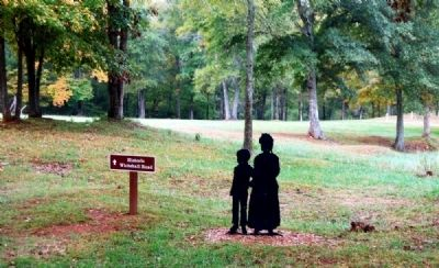 Woman and Child Marker and Silhoutte image. Click for full size.