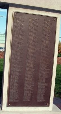 Panel Four - - World War I Honor Roll & Veterans Memorial Marker image. Click for full size.