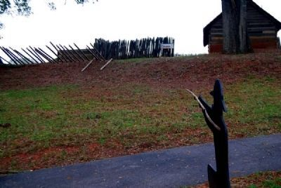 View of the Old Stockade Fort<br>From the Sharpshooter Marker image. Click for full size.